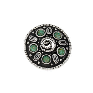 Miracle spiral shield brooch