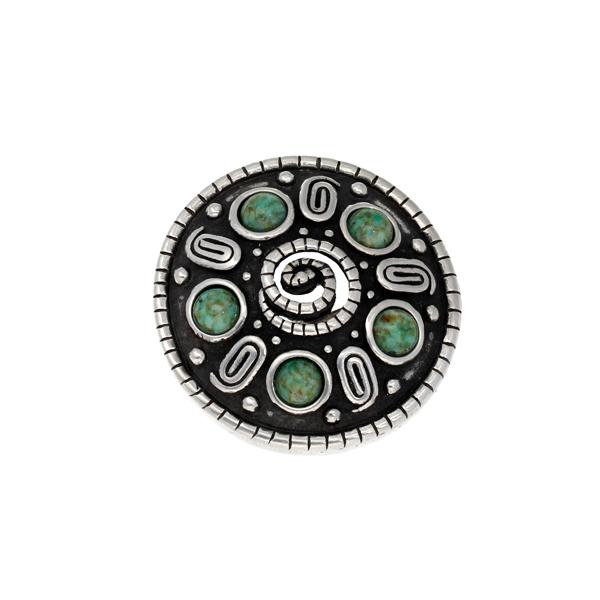 Miracle spiral shield brooch