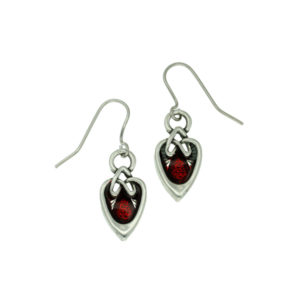 Miracle ornate heart earrings