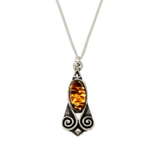 Miracle spiral pendant tiger's eye