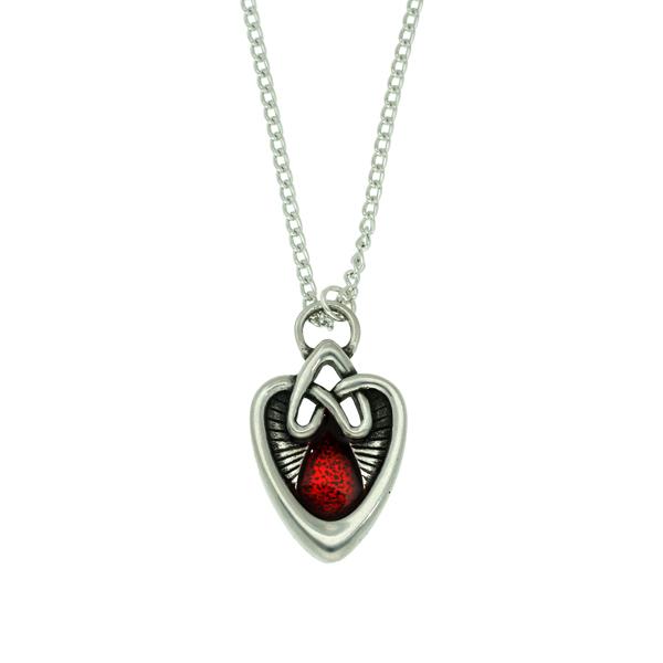 Miracle ornate heart pendant
