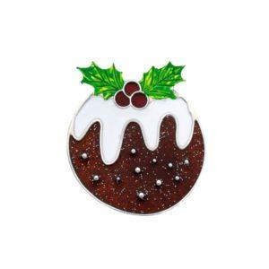 Christmas pudding brooch