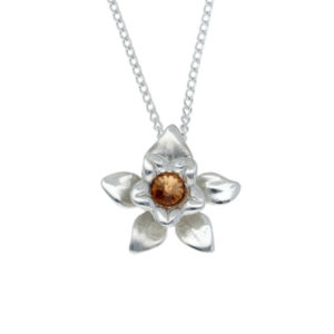 Pewter daffodil pendant