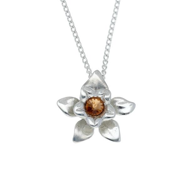 Pewter daffodil pendant