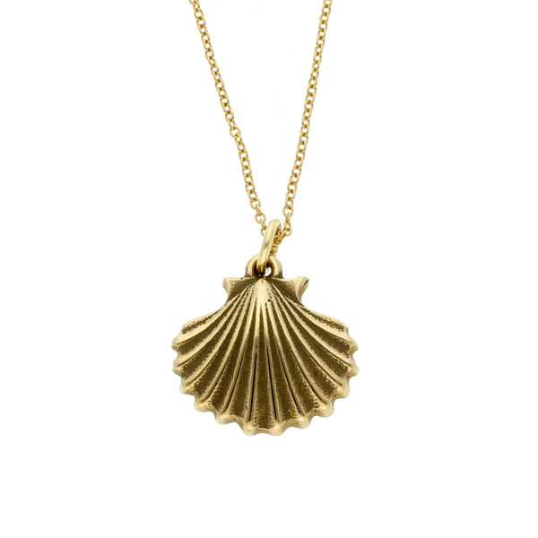 Bronze St Michael's Way Shell pendant