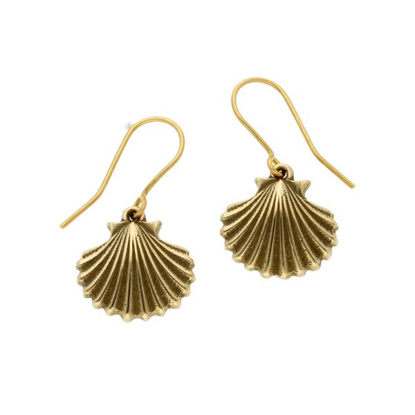 Bronze St Michael's Way Shell drop earrings