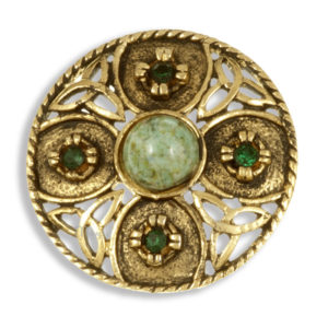 Miracle small Triscele shield brooch