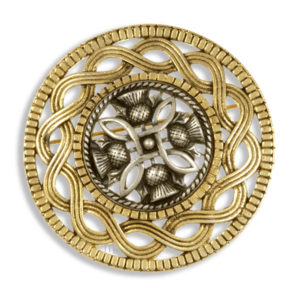 Miracle two tone Celtic thistle brooch
