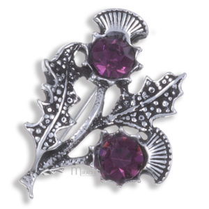 Miracle double thistle brooch