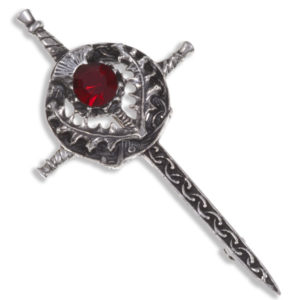 Miracle Sword & thistle kilt pin