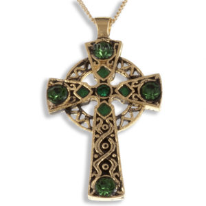 Miracle gold plated cross pendant