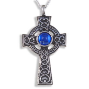 Miracle spiral knot cross pendant