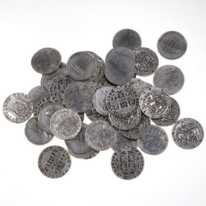 Set of 50 shipwreck coins