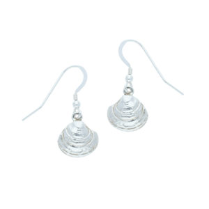 Silver Godrevy Clam drop earrings