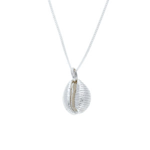 Silver Sennen Cowrie Shell pendant