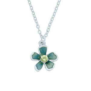 Exotic flower crystal pendant small
