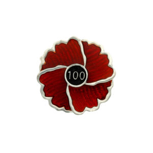 Limited edition centenary poppy brooch